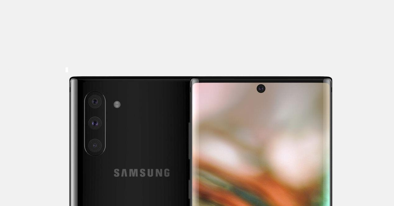 Galaxy Note 10 portada render