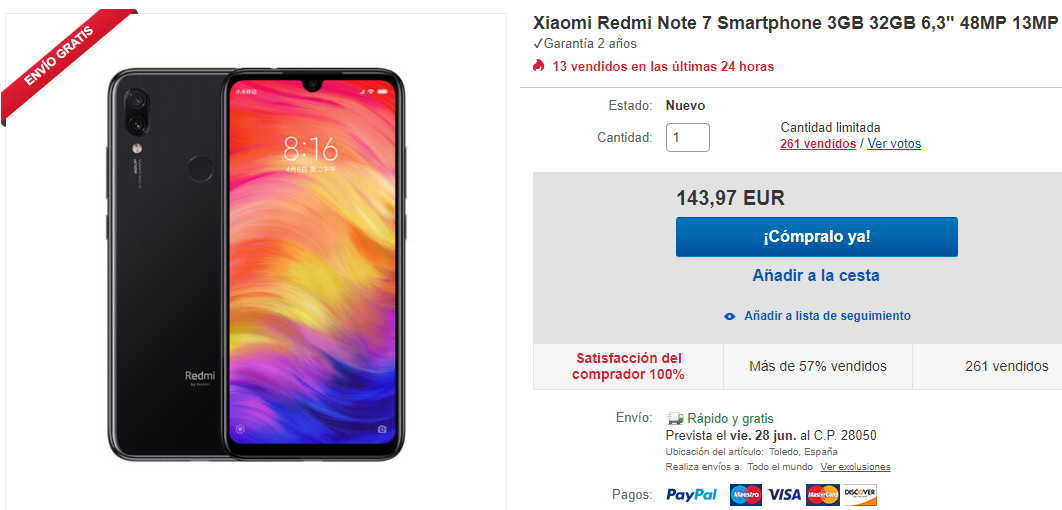 Redmi Note 7 eBay