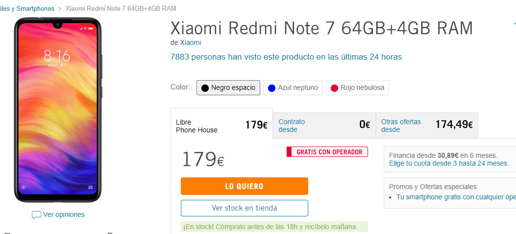 Xiaomi Redmi Note 7 Phone House