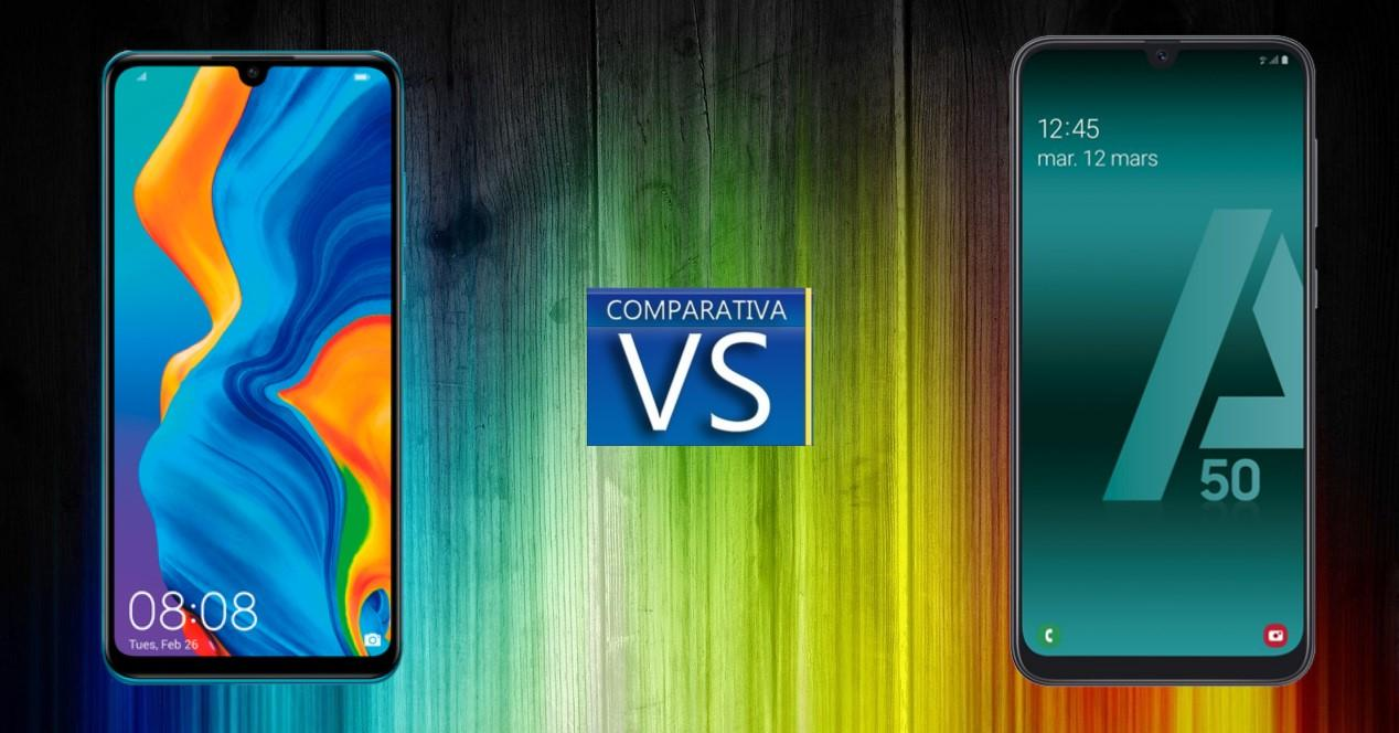 Comparativa Huawei P30 Lite vs Galaxy A50