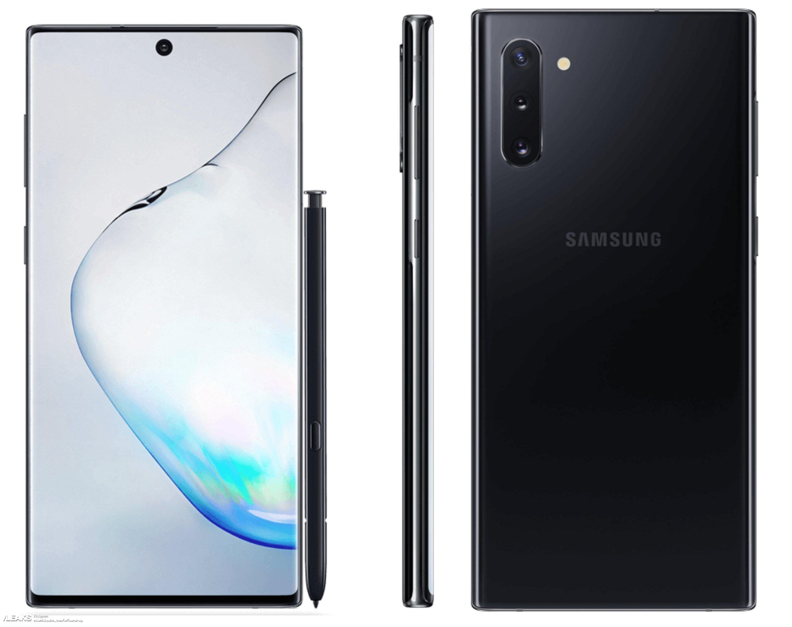 Note 10 press renders black