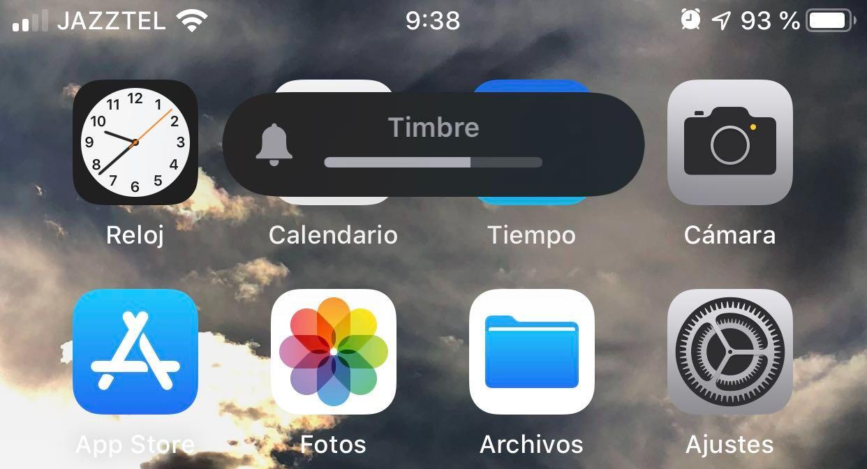 ios 13 volumen