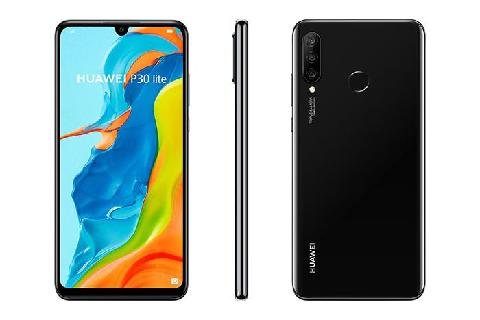 Frontal, trasera y lateral del Huawei P30 Lite