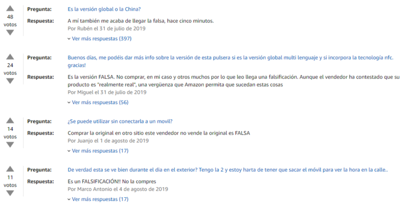 Comentarios Amazon Mi Band 4