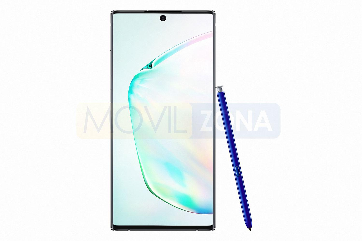 Samsung Galaxy Note 10 Plus con lápiz azul