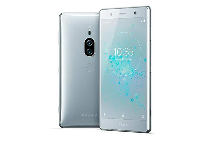 Sony Xperia XZ2 en color plata