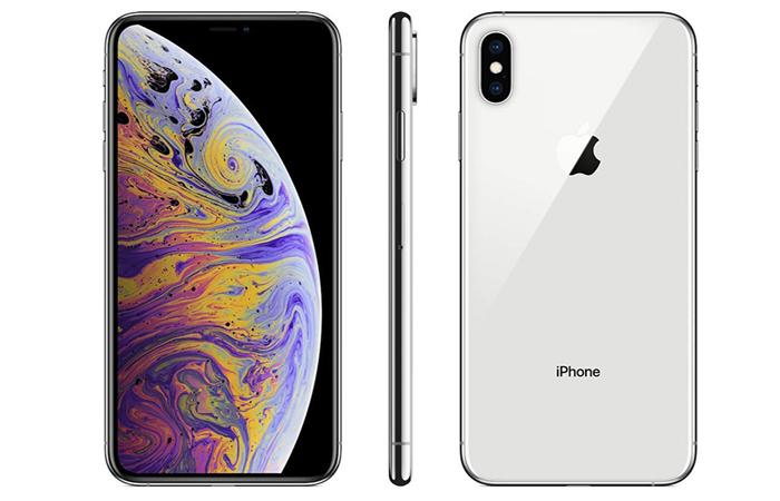 Frontal, lateral y trasera del iPhone XS Max