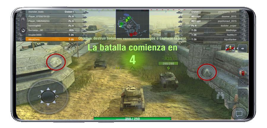 Inicio de partida en World of Tanks Blitz MMO