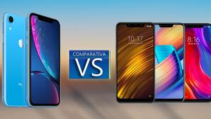 Comparativa: iPhone Xr vs Pocophone F1 vs Honor Play vs Xiaomi Mi 8