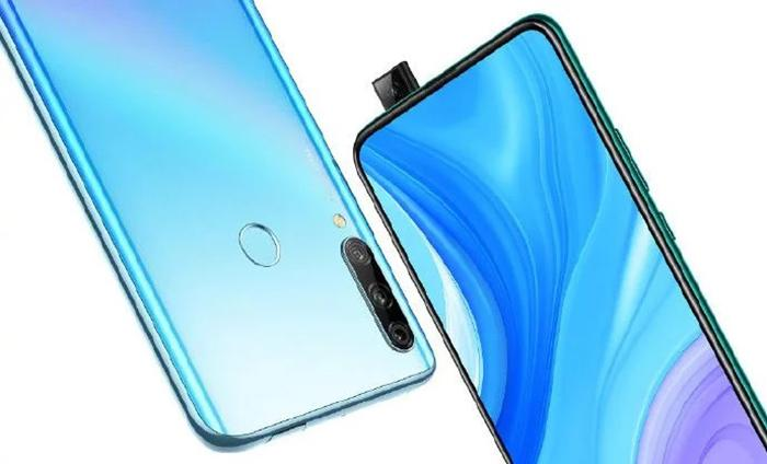 Huawei Enjoy 10 Plus frontal y trasera con cámara emergente