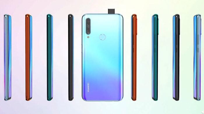 Frontal y lateral en varios colores del Huawei Enjoy 10 Plus