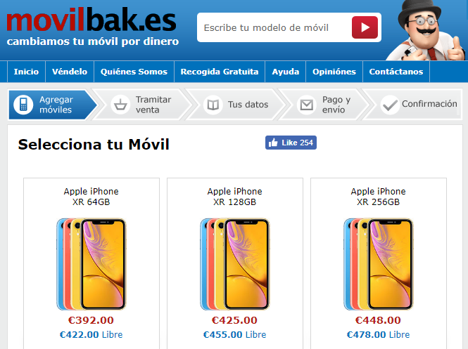 iPhone XR en MovilBank
