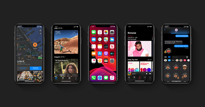 Pantllas de iOS 13 en iPhone