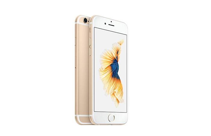 Frontal y trasera del iPhone 6s en color oro