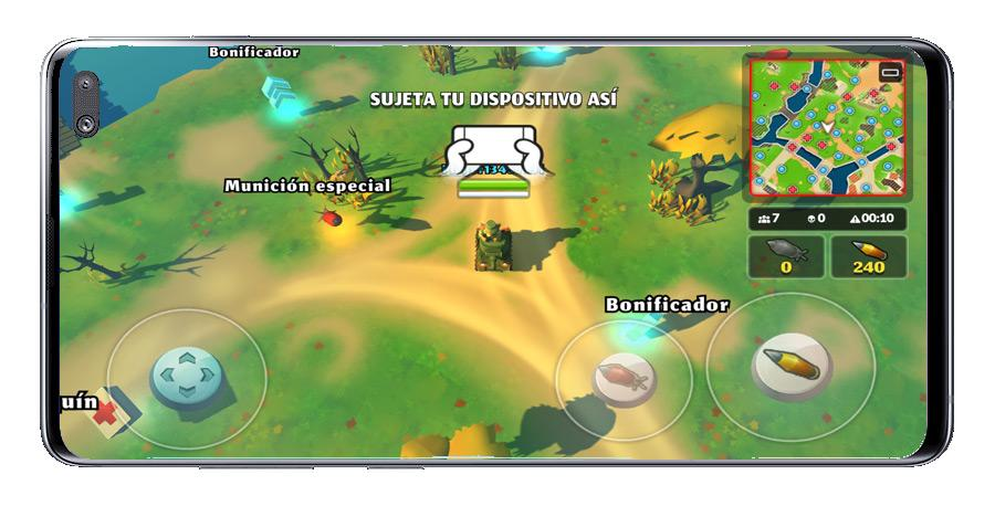 Mapa en PvPets: Tank Battle Royale