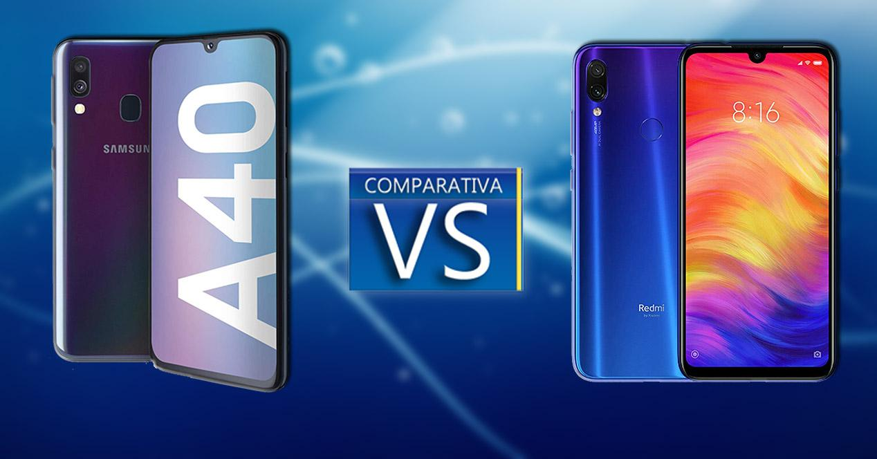 Galaxy A40 Vs Redmi Note 7