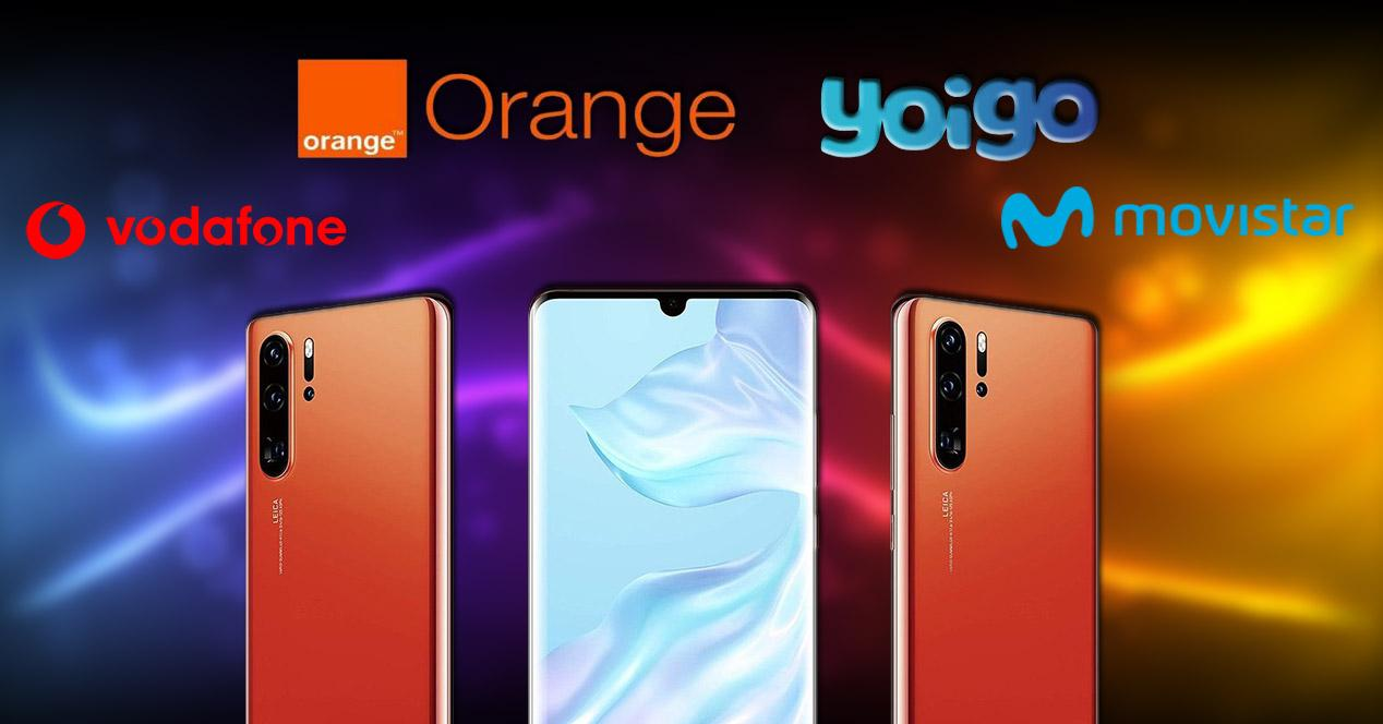 Huawei P30 Pro, vodafone, yoigo, orange, movistar