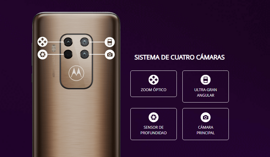 Motorola One Zoom camaras
