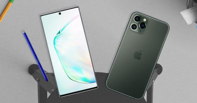 note 10 y iPhone xs max