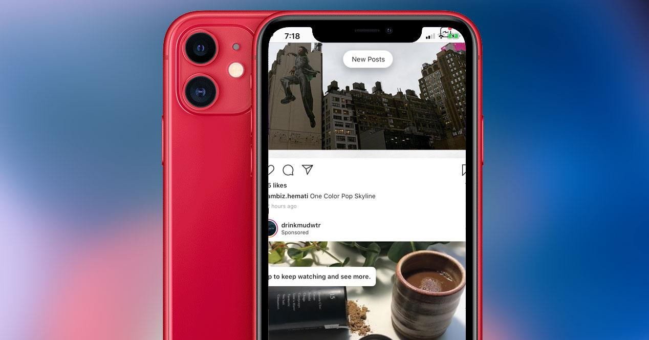 Problemas de iPhone 11 con Instagram