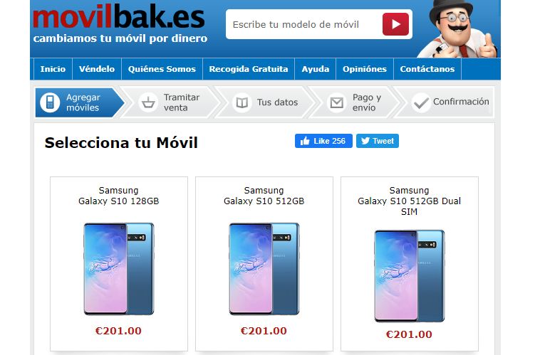 MovilBak oferta por el Galaxy S10