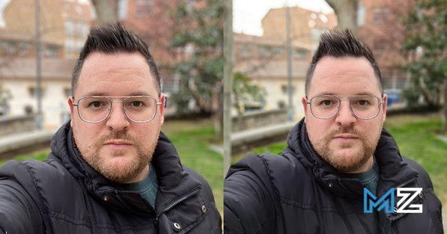 camaras iphone 11 pro vs galaxy s20 ultra - 11 camara frontal modo retrato