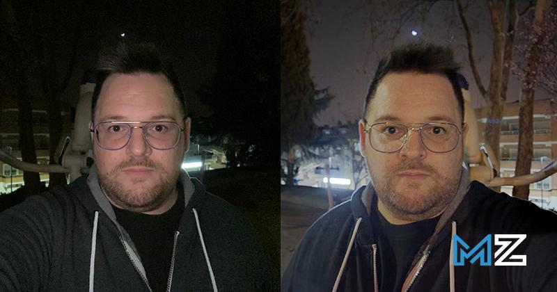 camaras iphone 11 pro vs galaxy s20 ultra - 9 camara frontal noche