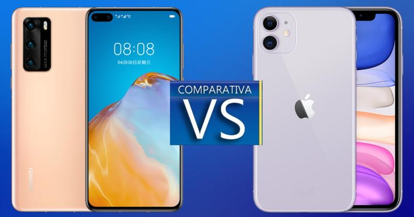Huawei P40 vs iPhone 11