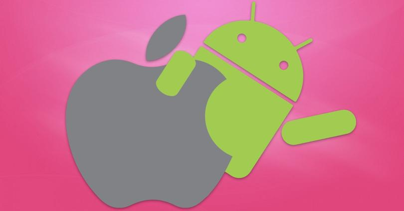 Android y logo de Apple