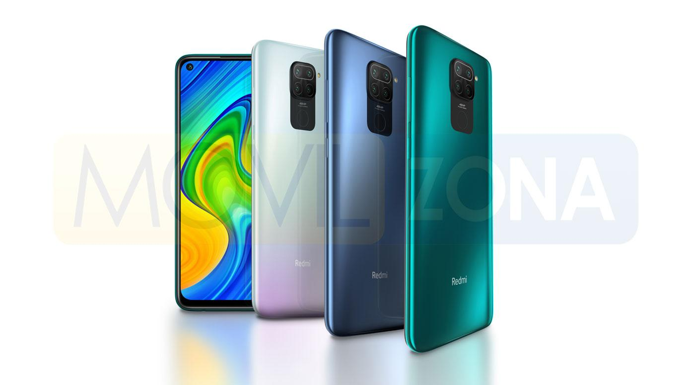 Redmi Note 9 colores