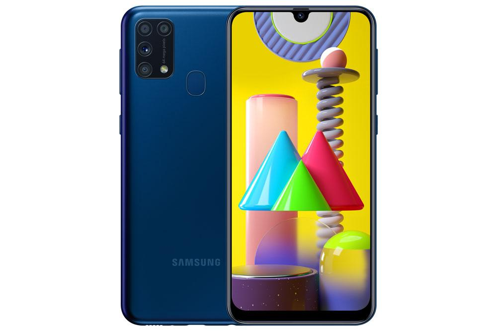 Samsung Galaxy M31 de color azul