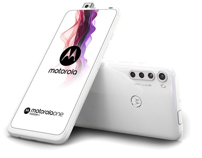 Motorola One Fusion+ color blanco