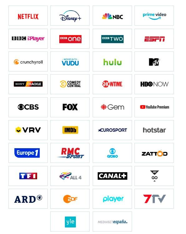 Logos servicios streaming TV