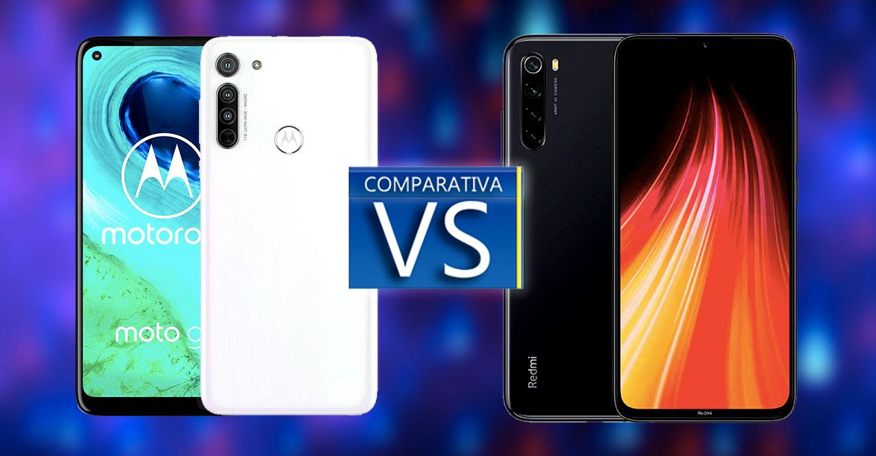 comparativa motorola moto g8 vs redmi note 8