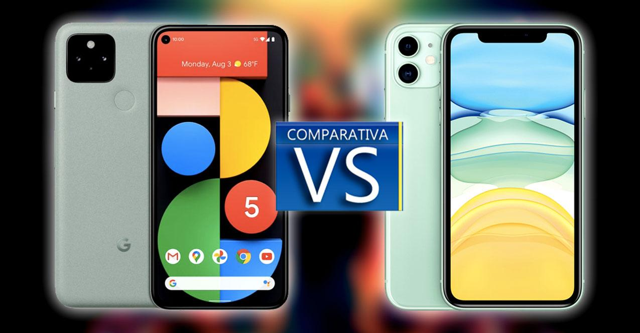 google pixel 5 vs iphone 11