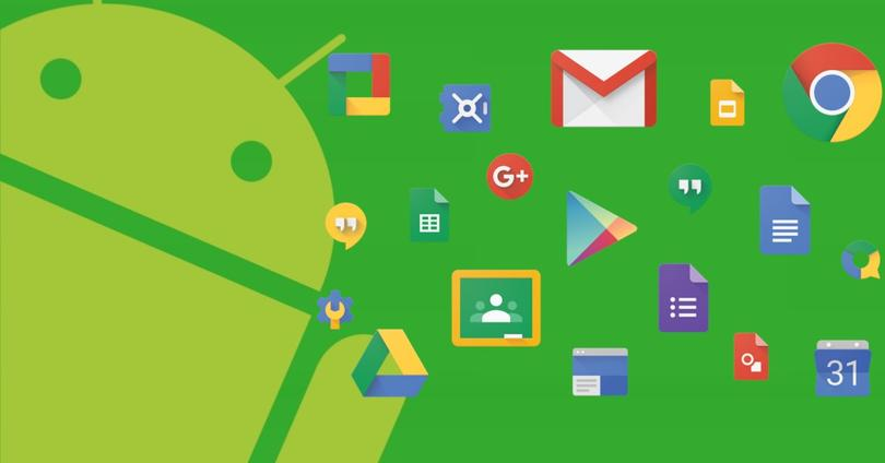 android logo y apps