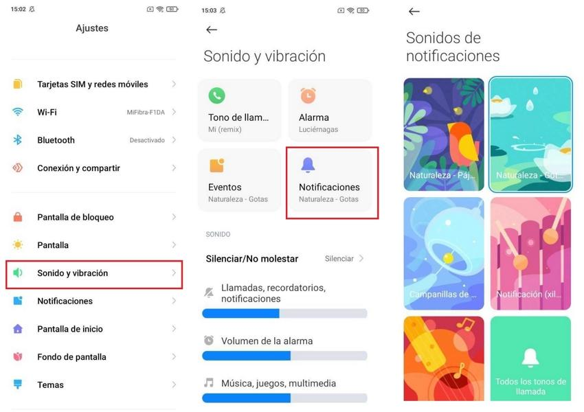 notificaciones xiaomi