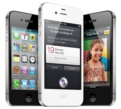 Apple iPhone 4S en color blanco y negro