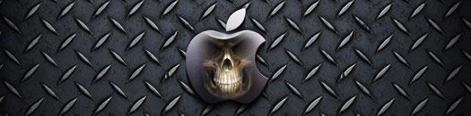 Logotipo de apple con calavera