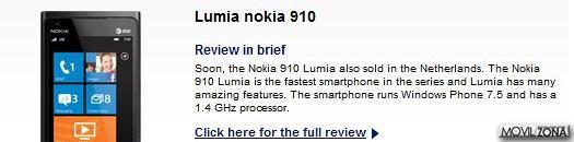 Captura página web de Typhone con Nokia Lumia 910