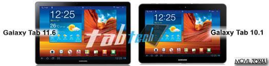 Samsung Galaxy Tab 11.6 frontal