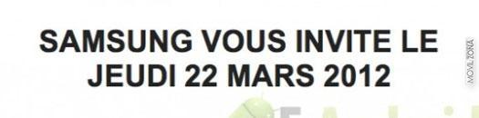 Cita de Samsung el 22 de marzo