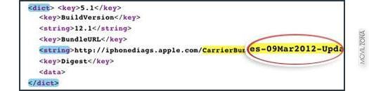 Captura de filtración iOS 5.1