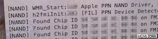 Líneas de código generadas por iBoot