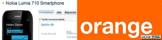 Oferta de Orange para la compra del Nokia Lumia 710