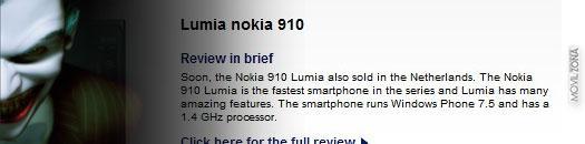 Desmentido oficialmente el Nokia Lumia 910