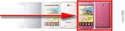 Samsung Galaxy Note en color rosa