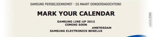 invitación de Samsung