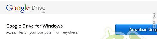 Primera imagen de Google Drive