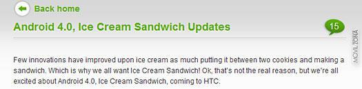 Comunicado oficial de HTC